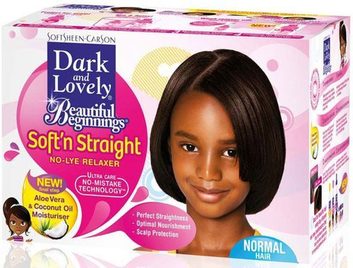 Dark and Lovely Beautiful Beginnings Soft N Straight No Lye Relaxer - Normal