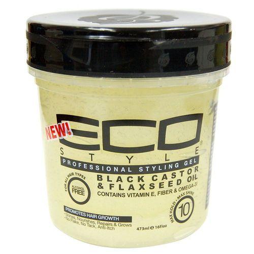 Eco Styler Black Castor & Flaxseed Gel - 16oz