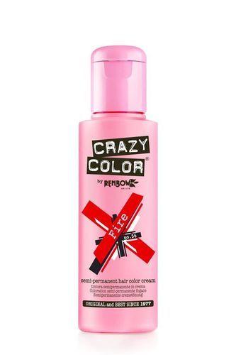 Crazy Color Semi Permanent Hair Color Cream - Fire