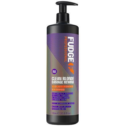 Fudge Clean Blonde Damage Rewind Violet Toning Shampoo - 1000ml