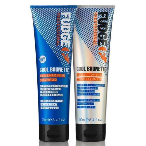 Fudge Cool Brunette Blue-toning Shampoo & Conditioner - 250ml