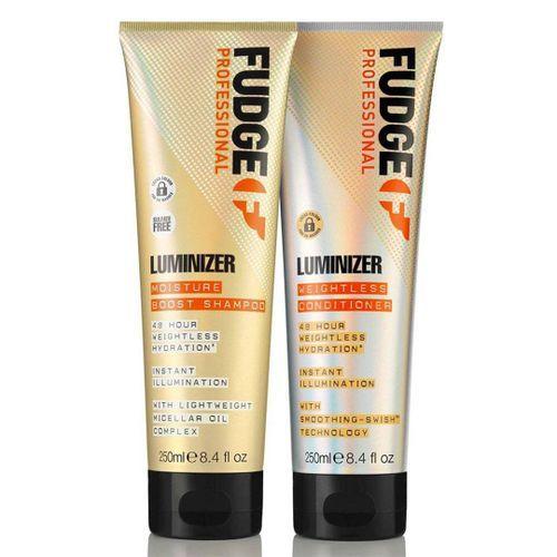 Fudge Luminizer Moisture Boost Shampoo & Weightless Conditioner - 250ml