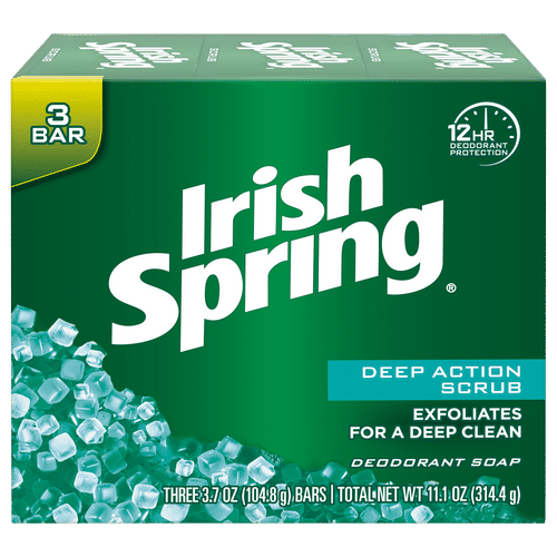 Irish Spring Deep Action Scrub Bar Soap - pack Of 3