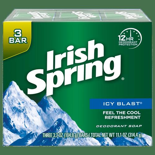 Irish Spring Icy Blast Bar Soap - pack Of 3