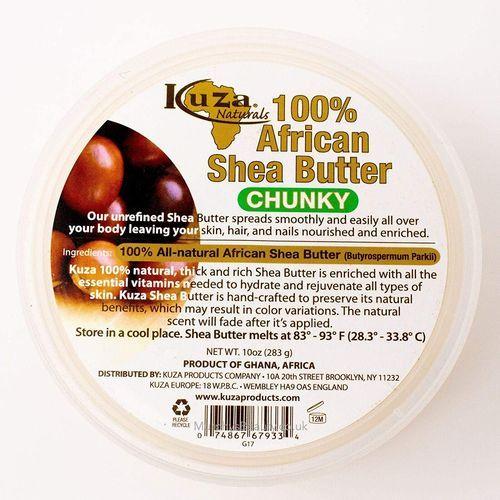Kuza 100% African Shea Butter Yellow Chunky - 10oz