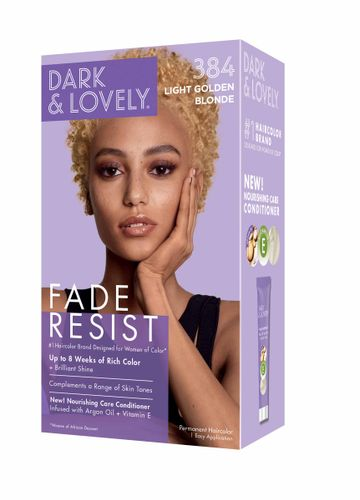 Dark and Lovely Fade Resistant Rich Conditioning Hair Color - Light Golden Blonde,384