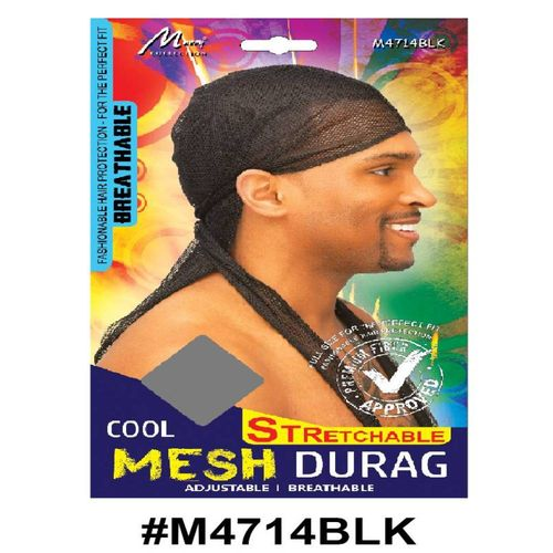 Murry Cool Mesh Stretchable Durag Black - M4714blk