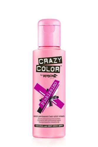 Crazy Color Semi Permanent Hair Color Cream - Pinkissimo