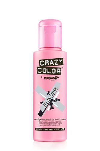 Crazy Color Semi Permanent Hair Color Cream - Platinum