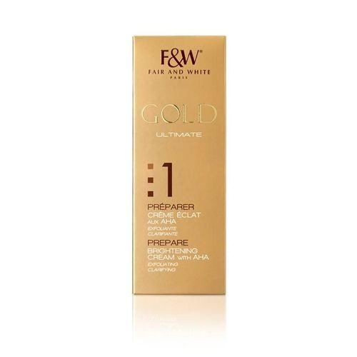 Fair & White Gold Prepare Brightening Cream With Aha - 75ml