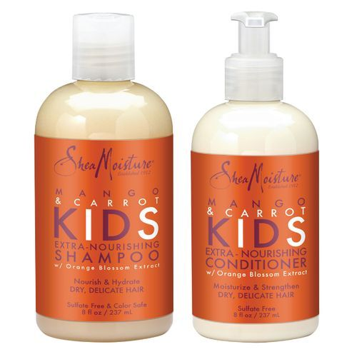 Shea Moisture Mango & Carrot Kids Extra-nourishing Shampoo & Conditioner Duo Pack - 8oz