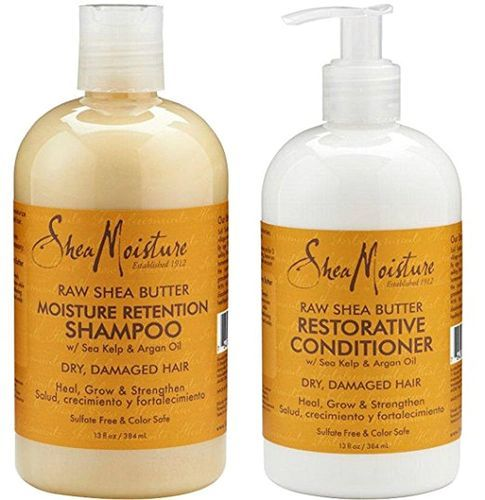 Shea Moisture Raw Shea Butter Moisture Retention Shampoo + Restorative Conditioner Duo Pack - 13oz