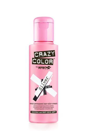 Crazy Color Semi Permanent Hair Color Cream - Silver