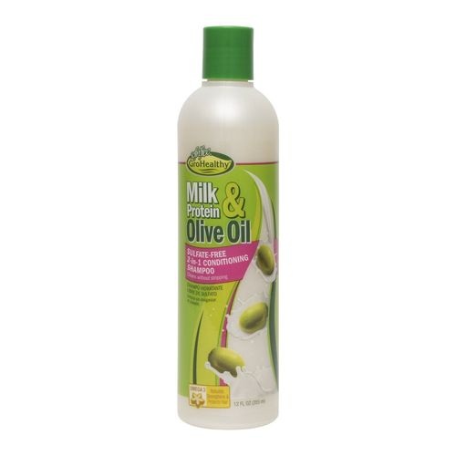 Sof N' Free Gro Healthy Milk & Olive Sulphate Free 2in1 Conditioning Shampoo - 12oz