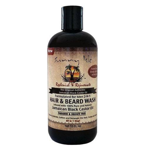 Sunny Isle Jamaican Black Castor Oil Formulated For Men 2-n-1 Hair & Beard Wash - 12oz