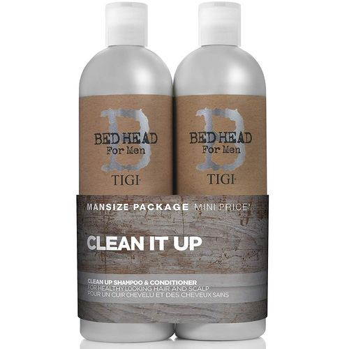 Tigi Bed Head For Men Clean Up Shampoo & Conditioner Duo Pack - 750ml