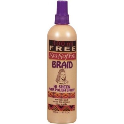 Sta-Sof-Fro Braid Hi Sheen Hair Polish Spray - 350ml