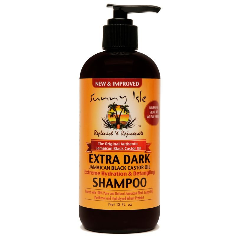 Sunny Isle Extra Dark Jamaican Black Castor Oil Extreme Hydration & Detangling Shampoo - 12oz