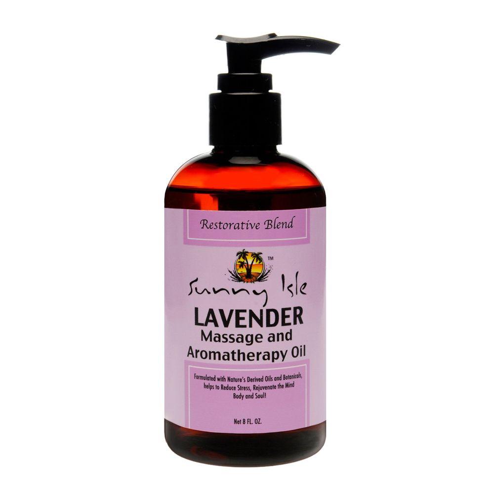 Sunny Isle Lavender Massage & Aromatherapy Oil - 8oz