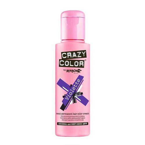 Crazy Color Semi Permanent Hair Color Cream - Violette