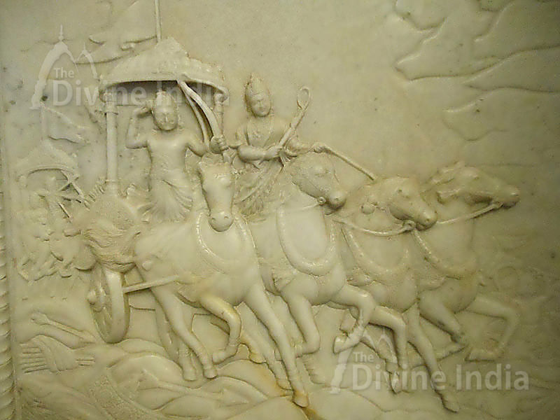 The chariot of Lord Krishna and Arjuna