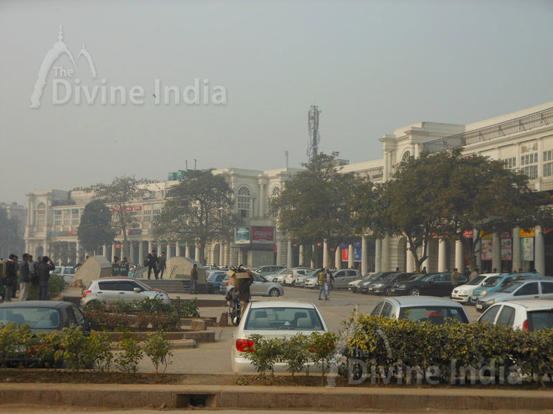 Connaught Place, New Delhi inside circle