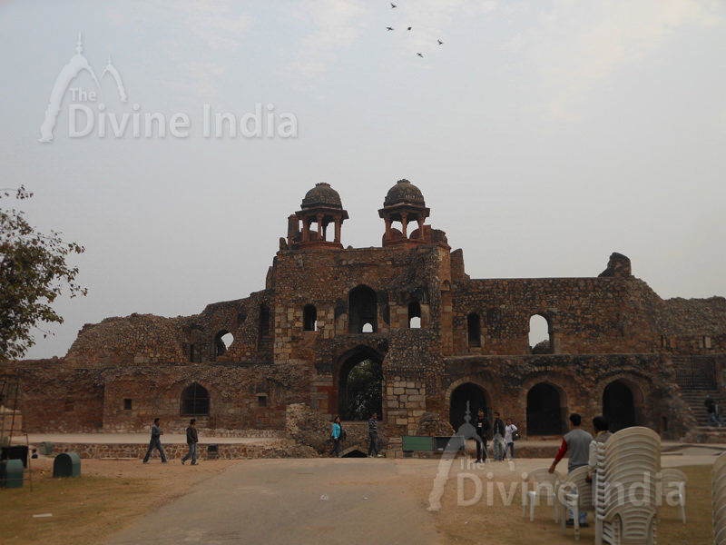 Humayun Gate (Southern Ramparts) from inside, Purana Qila