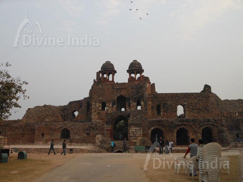 Humayun Gate (Southern Ramparts) from inside, Purana Qila