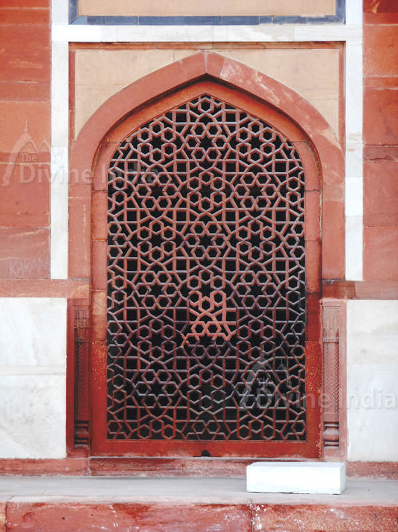 The symbolically cut out at Humayun of Tomb