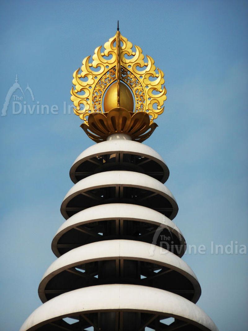 Top of shanti stupa