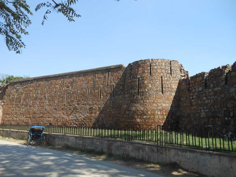 Feroz Shah Kotla Fort Wall out side view