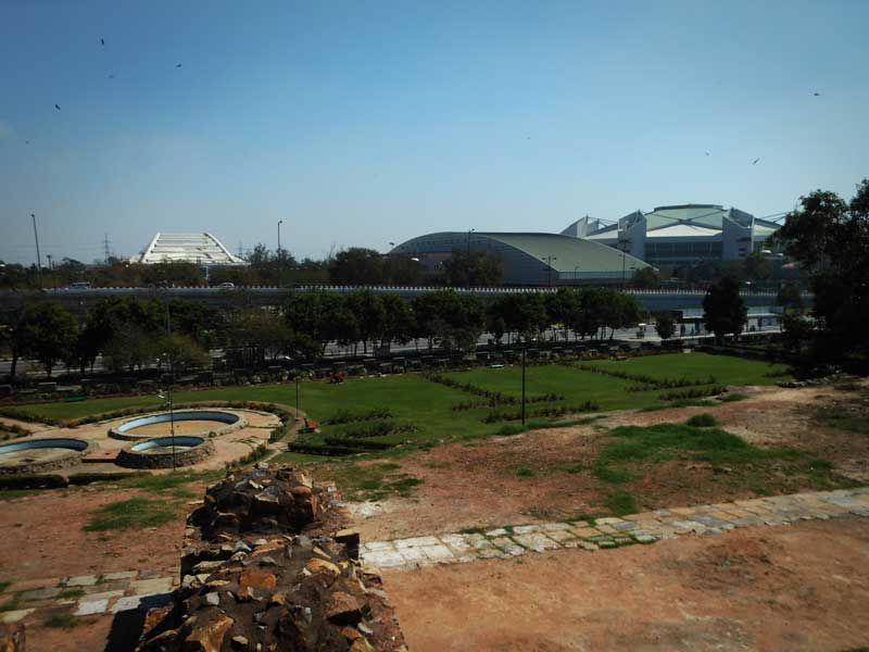 Indira Gandhi Studium view at Feroz Shah Kotla Fort