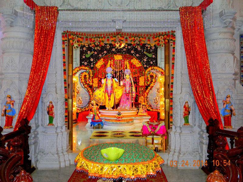 Radha Krishna Idol inside Prem Mandir