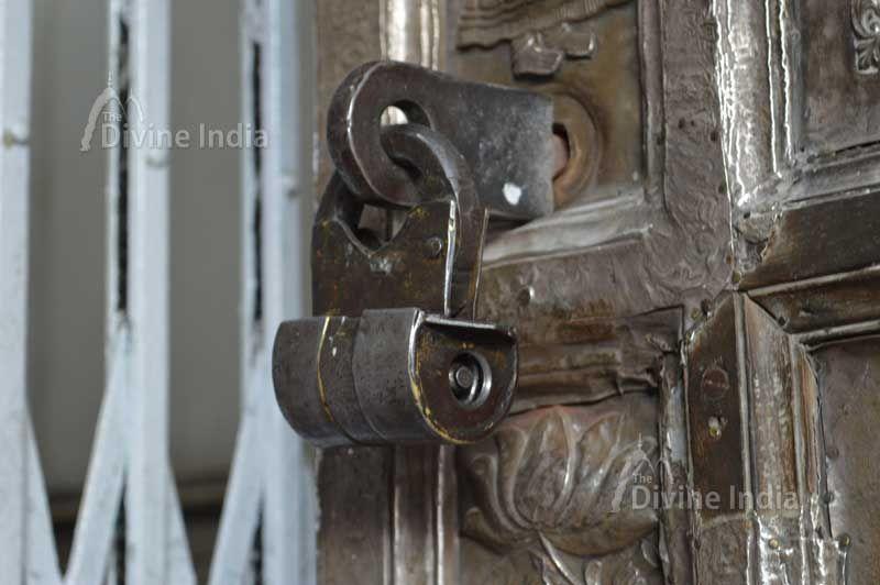 Ancient door lock of kangra devi temple