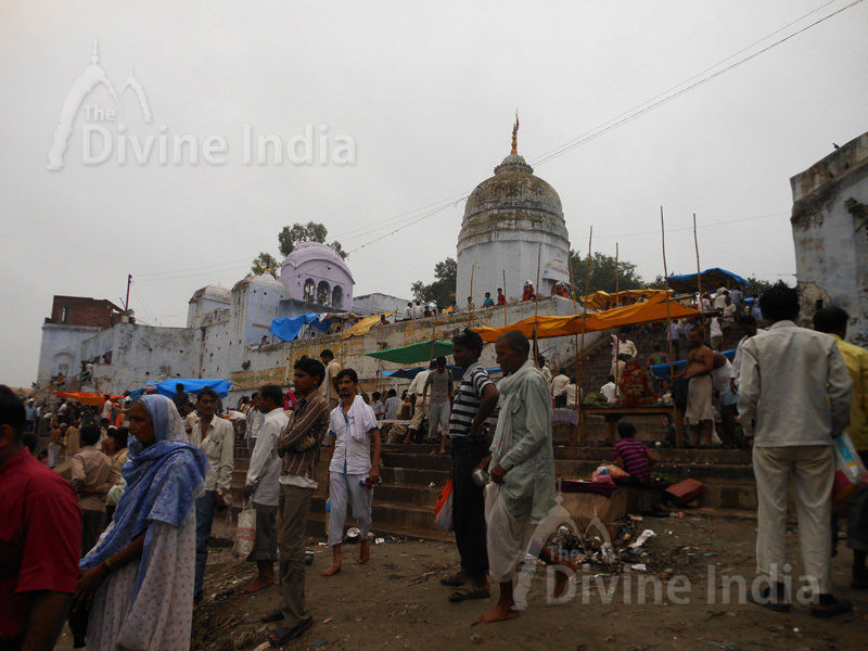 A ancient temple in Bateshwar, on the banks of the Yamuna