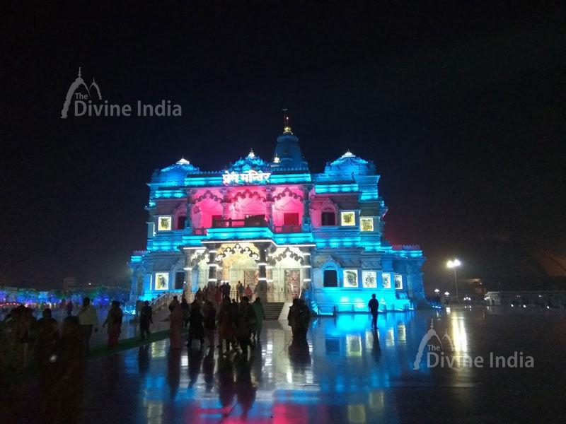 Beautiful lights show prem mandir