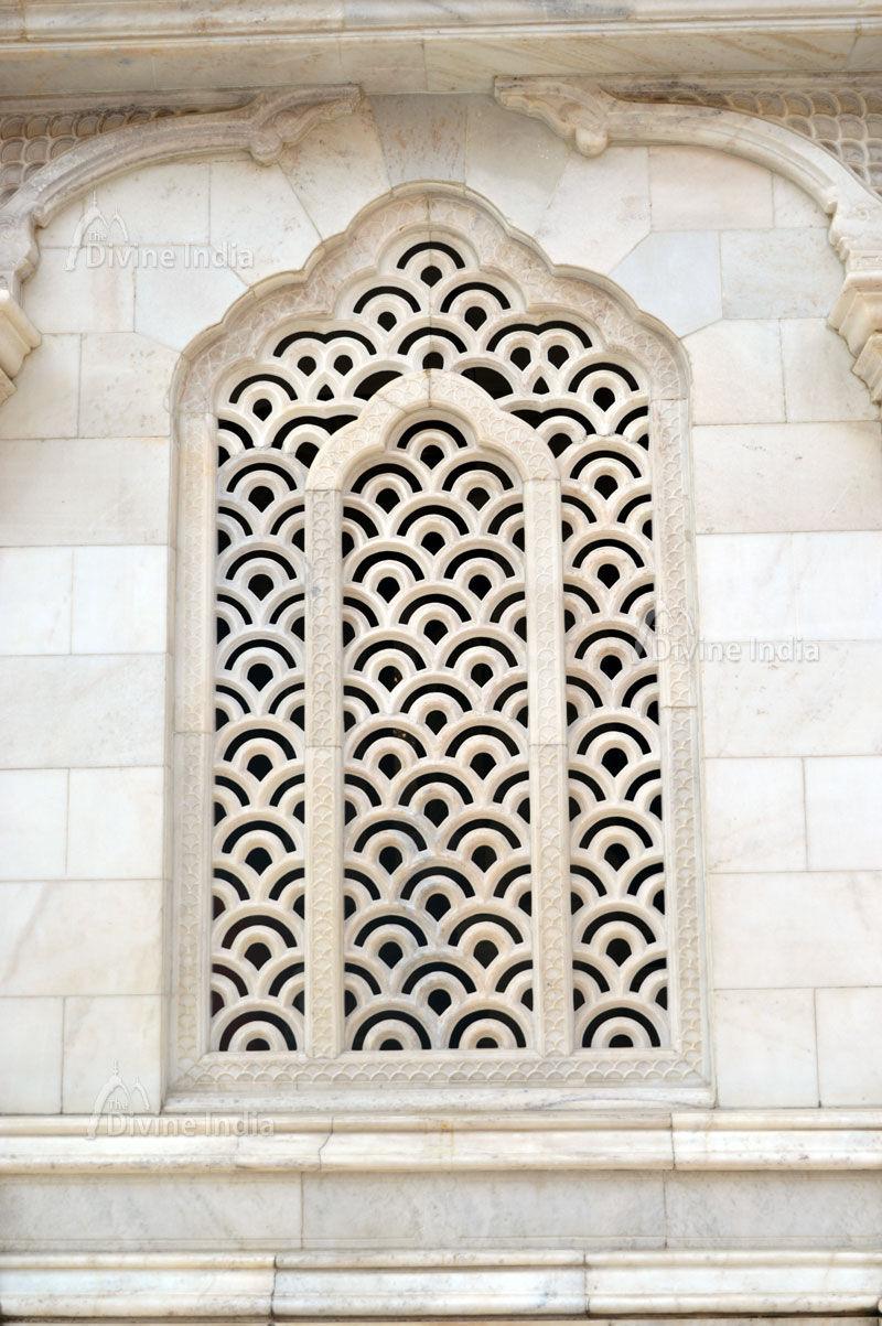 Beautiful window design at iskcon temple vrindavan