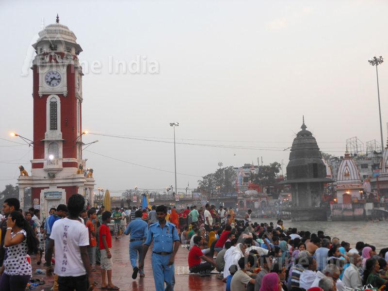 Raja Birla Tower Har Ki Pauri Ghat Ganga temple at haridwar