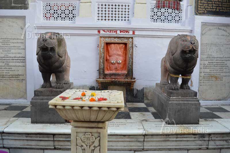 Charan paduka at kangra devi temple