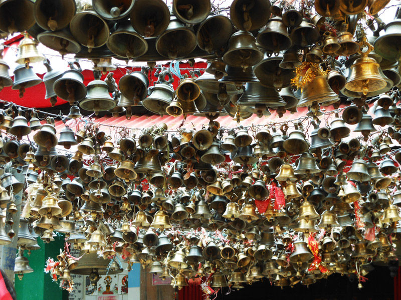 Countless bells of  Jhula Devi Temple