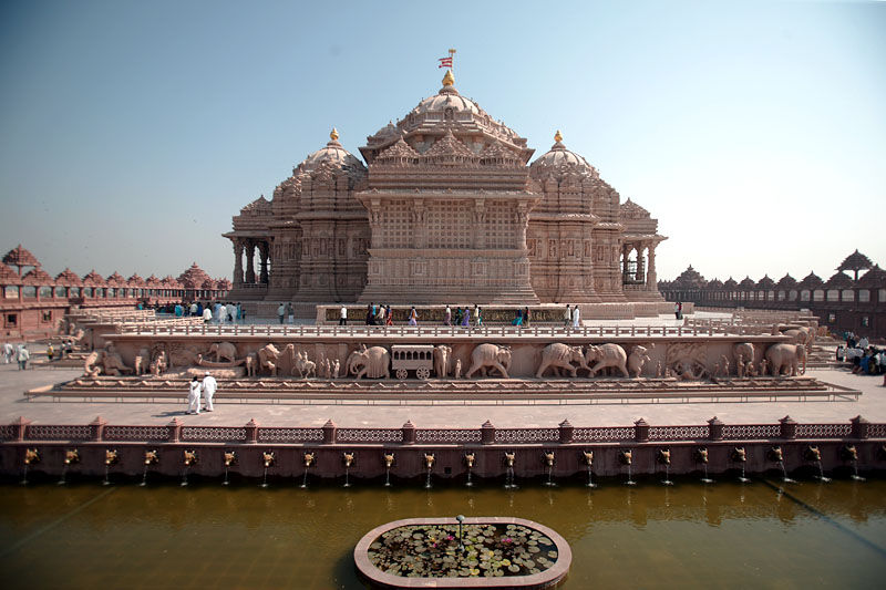 Back side view of Akshardham Temple