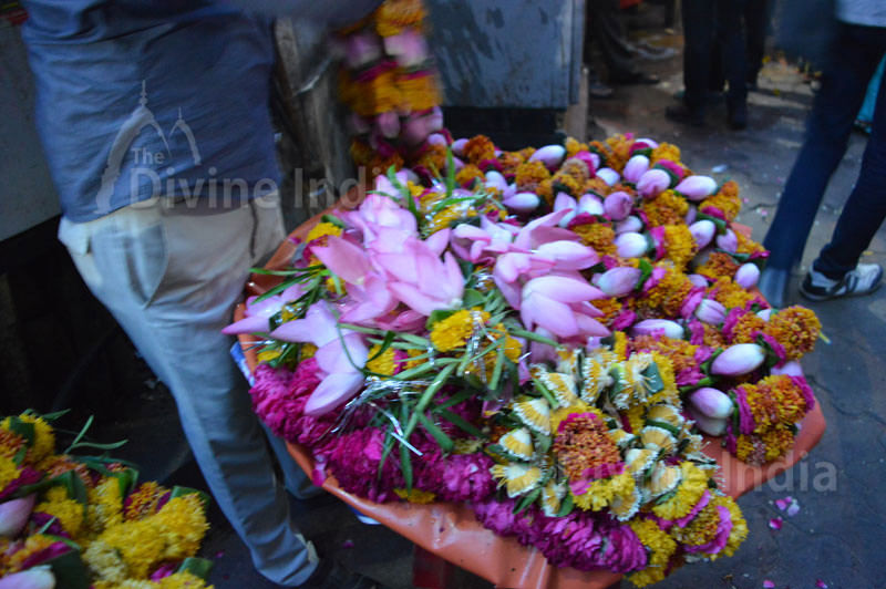Flower Seller at Shri Bankey Bihari Temple - Vrindavan