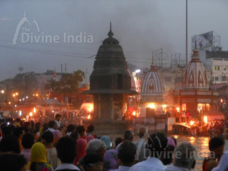 The Ganga Evening arati view at haridwar