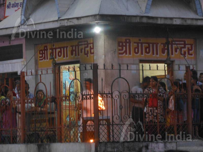 The Ganga temple haridwar evening arati