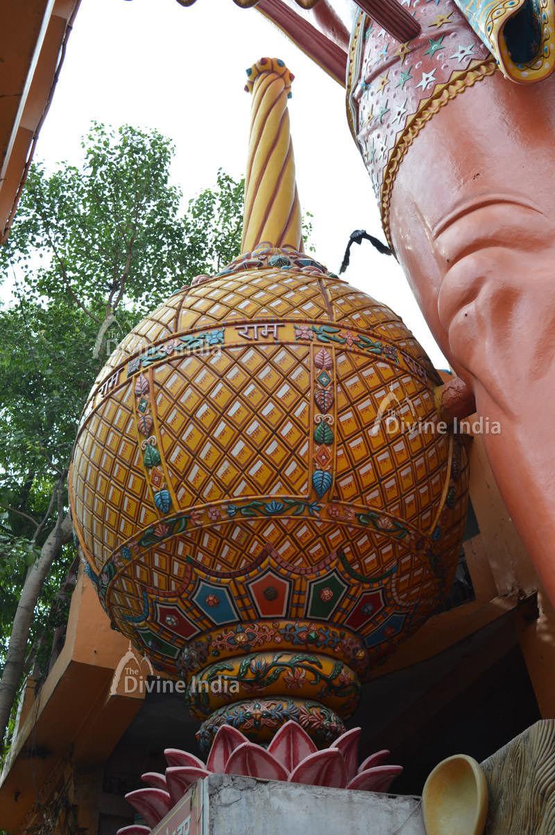 Giant Hanuman Gada at 108 Feet Hanuman Temple
