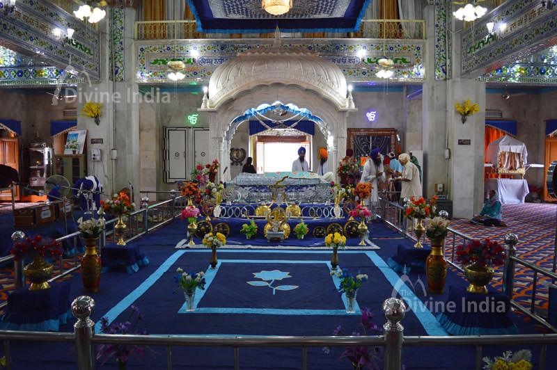 Guru Granth Sahib at Gurudwara Paonta Sahib