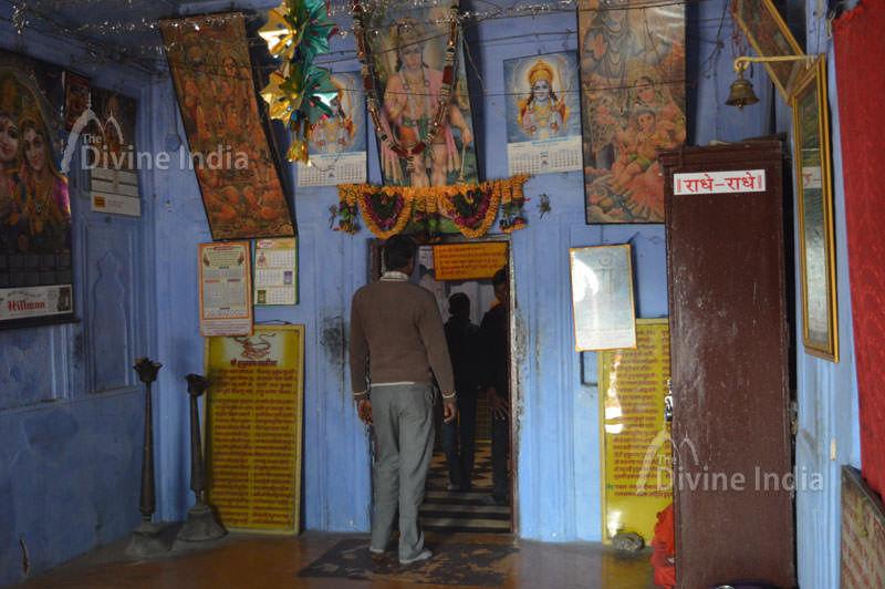 Hanuman Temple inside at deeg palace