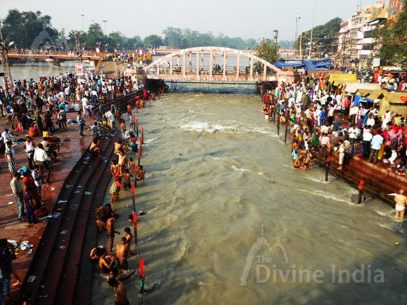 Har Ki Pauri Ghat Ganga Temple at Haridwar