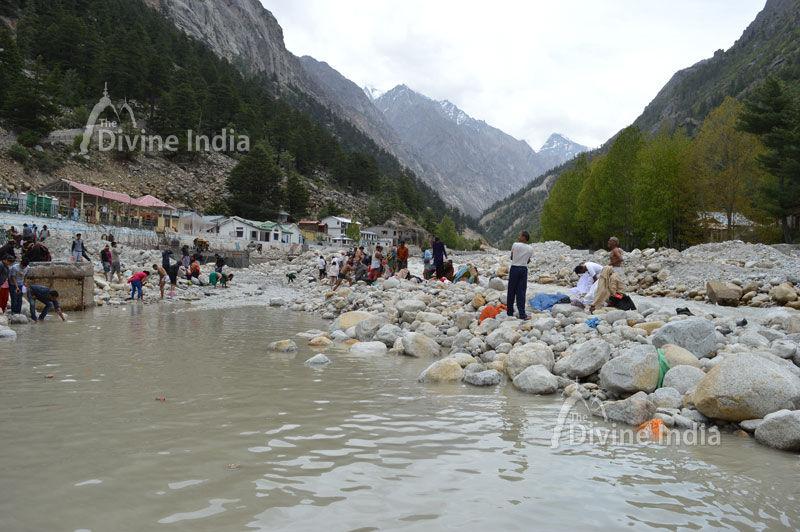 Holy River Ganga at Gangotri Dham