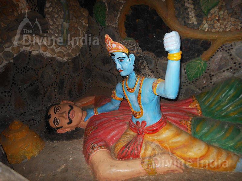 Kans Vadh Sculpture at Moksha Dham Temple